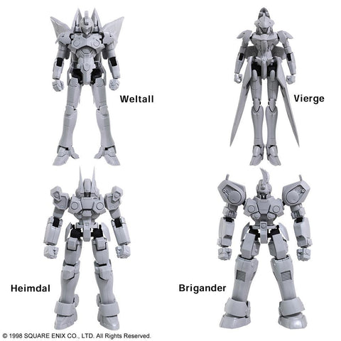 Xenogears: 1/144 Scale Structure Arts Series (Vol. 1) Set of 3 Model Kit Pre-order Square Enix