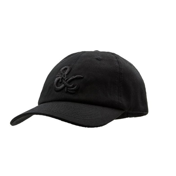 Dungeons & Dragons: D&D Black On Black Ampersand Dad Cap Goods For Fans By Fans