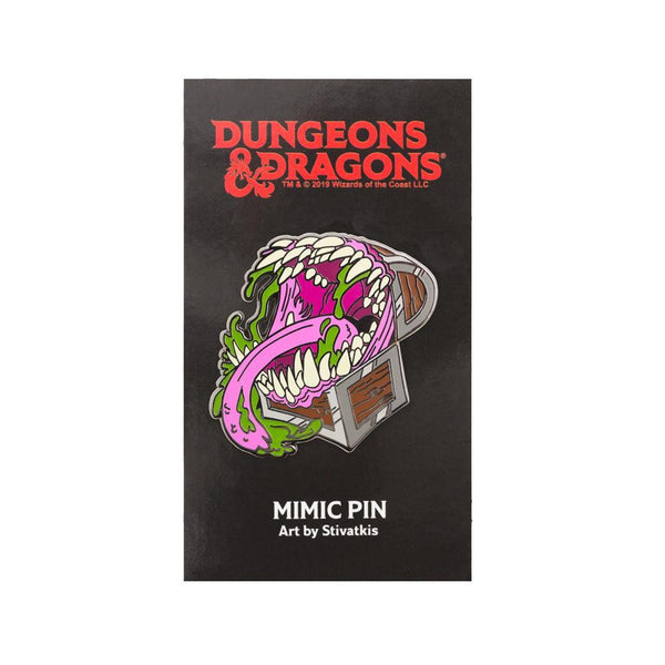 Dungeons & Dragons: Mimic Glow-In-The-Dark Pin Goods For Fans By Fans