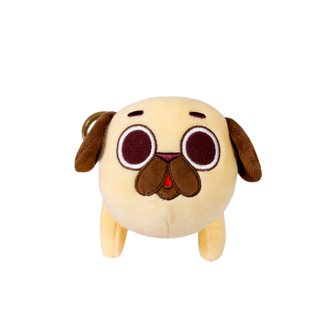Puglie: Pug Plush Medium With Hang Clip Plush For Fans By Fans