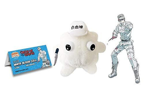 GIANTmicrobes Cells at Work! White Blood Cell Plush Toy GIANT MICROBES