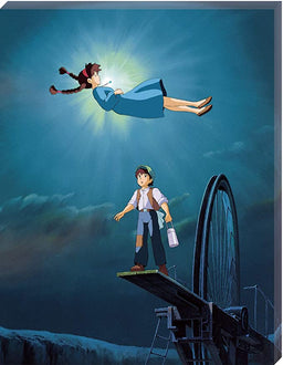"Castle in the Sky ""The Girl Who Fell from the Sky"" Ensky Artboard Jigsaw (Canvas Style): Studio Ghibli Puzzle Ensky"