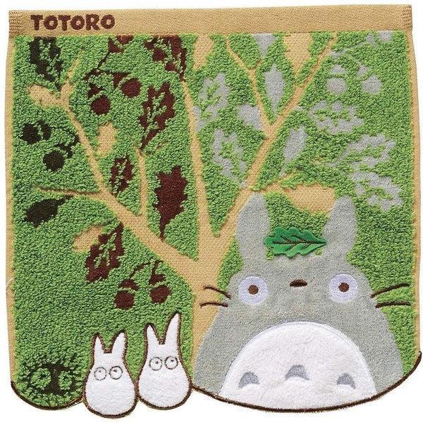 Totoro and Acorn Tree Mini Towel: Studio Ghibli Goods Marushin