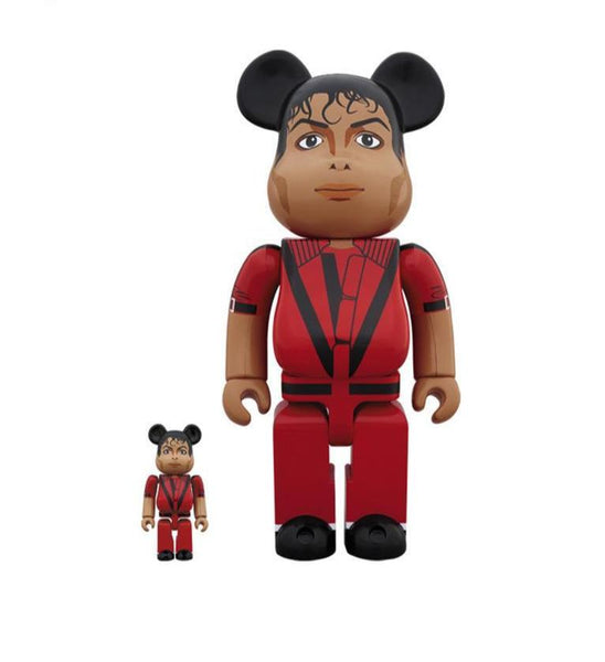 Be@rbrick Michael Jackson Red Jacket 100% & 400% Set Be@rbrick Medicom Toy