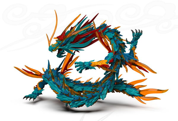 "Original Character: Shenxing Technology ""Classic Of Mountains And Seas"" Series Blue Dragon (Azure Dragon) Model Kit Pre-order Shenxing Technology"