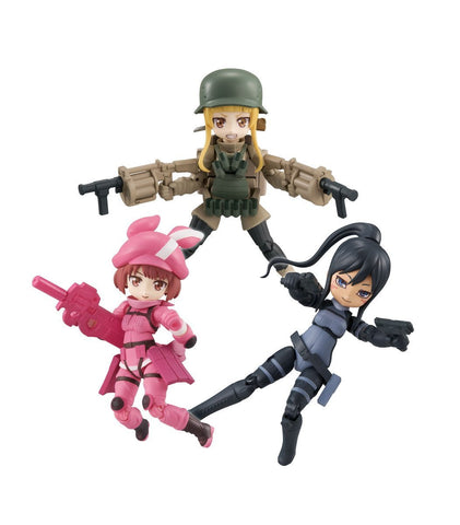 Sword Art Online Alternative Gun Gale Online: Desk Top Army Set of 3 Desk Top Army Megahouse