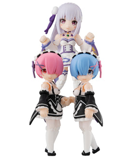 Re:ZERO: Desktop Army Rem, Ram, Emelia Set of 3 Non-Scale Figure Megahouse
