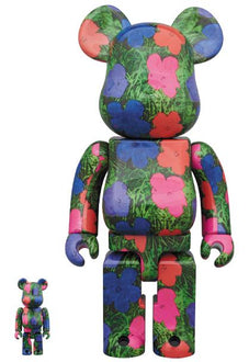 "BE@RBRICK Andy Warhol ""Flowers"" 100% & 400% Set Pre-order Medicom Toy"