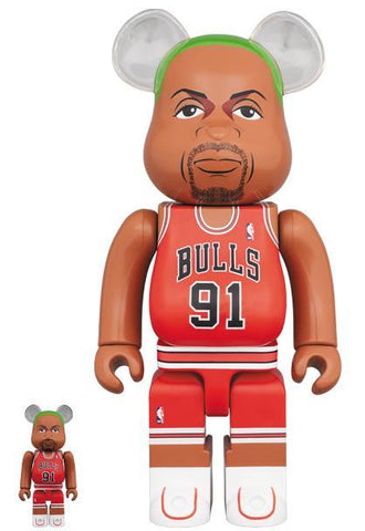 BE@RBRICK Dennis Rodman (Chicago Bulls) 100% & 400% Set Pre-order Medicom Toy