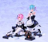 Re:Zero -Starting Life in Another World-: Ram & Rem Special Stand Complete Set Ver. 1/8 Scale Figure Pre-order Revolve