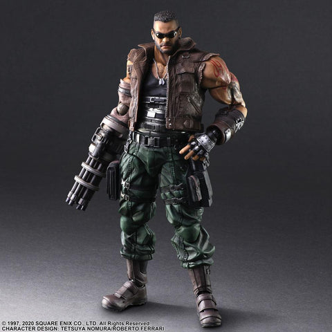 Final Fantasy VII Remake Play Arts -Kai- Barret Wallace Ver. 2 Action Figure Pre-order Square Enix
