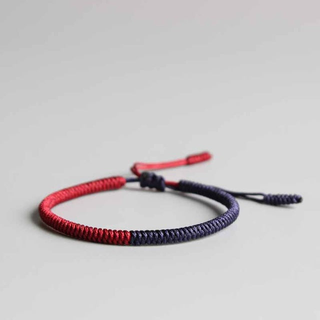 5f5479bea0305 Multi Color Tibetan Buddhist Lama Braided Knots Lucky Rope Bracelet Fo –  Charms Brands