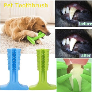 Pets Toothbrush Teeth Cleaning Chew Toy Teddy Small Dog Stick Silicone Perfect for Mouth Cleaning