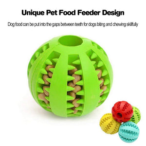 Pet Dog Toys IQ Treat Ball Interactive Toy Chew Food Ball Game for Dogs Bite-Resistant  and Clean Teeth