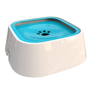 1.5L Pet Dog Bowls Floating Not Wetting Mouth Cat Bowl No Spill Drinking Water Feeder Plastic Portable Dog Bowl