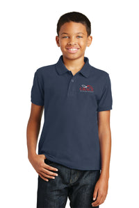Navy Blue Port Authority® Youth Core Classic Pique Polo