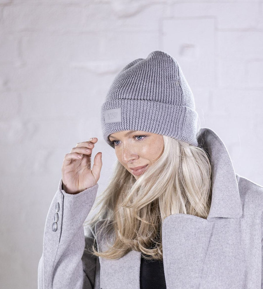 100% Merino Wool Beanie — Cloud Grey
