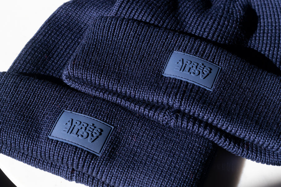 100% Merino Wool Beanie — Midnight Navy