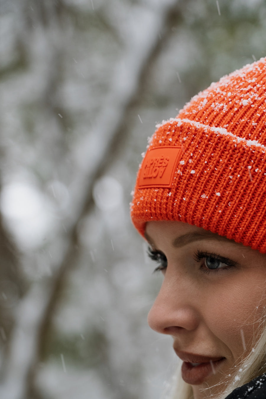100% Merino Wool Toque — Orange
