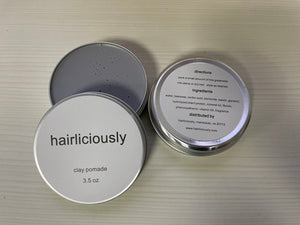 HAIRLICIOUSLY Matte Clay Pomade 3.5 oz - HAIRLICIOUSLY LLC