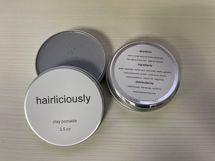 HAIRLICIOUSLY Matte Clay Pomade 3.5 oz - HAIRLICIOUSLY