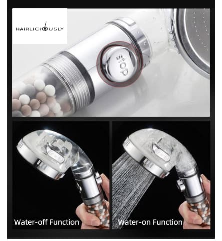 HAIRLICIOUSLY Ionic 3 Setting Shower Head Set