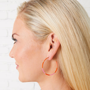 Baja Hoop Earring - Pink/Orange