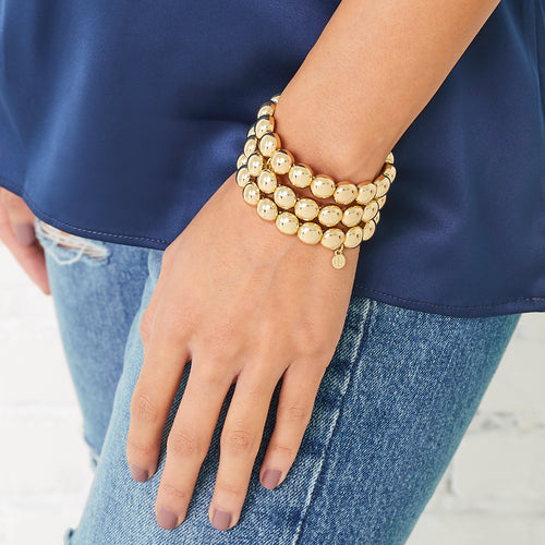 Bubble Bracelet- Gold 10mm