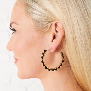 Kona Hoop Earring Black