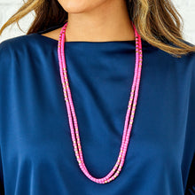 Load image into Gallery viewer, Long Laguna Necklace - Pink/Gold