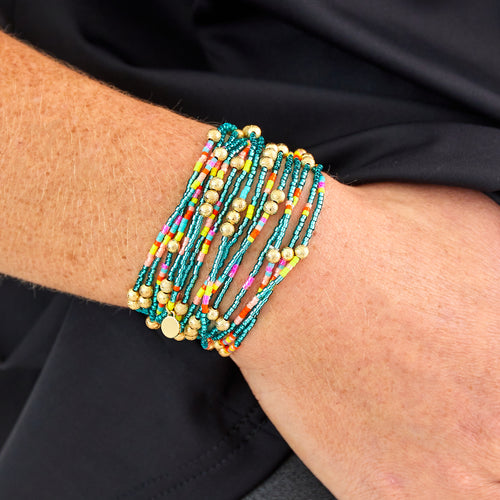 Malibu Wrap Bracelet/Necklace Turquoise Multi