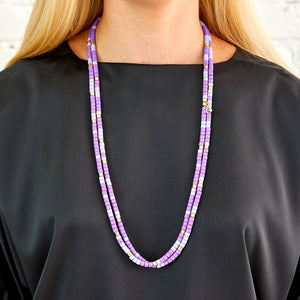Long Laguna Necklace - Lavender Mix