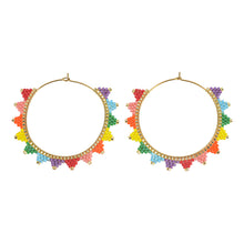 Load image into Gallery viewer, Kona Hoop Earring Rainbow