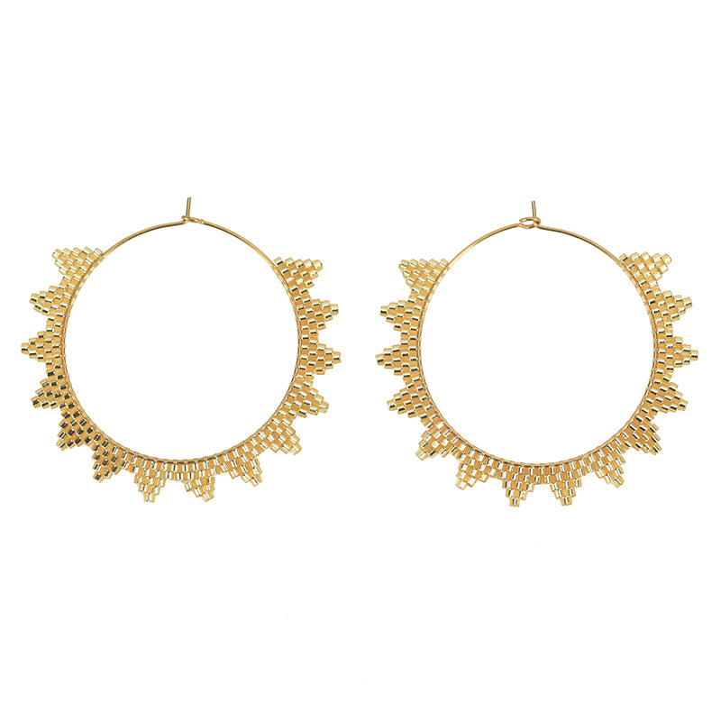 Kona Hoop Earrings Gold