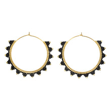Load image into Gallery viewer, Kona Hoop Earring Black