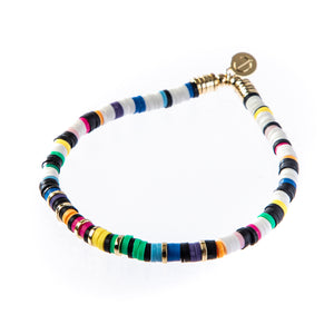 Seaside Skinny Bracelet- White Rainbow