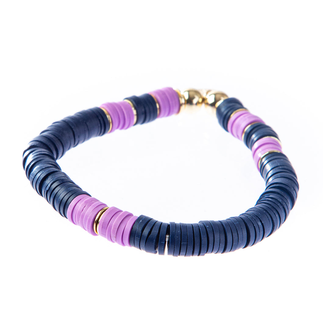 Seaside Bracelet- Lavender/Navy