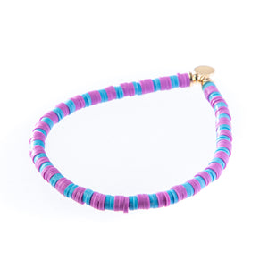 Seaside Skinny Bracelet- Lilac & Light Blue