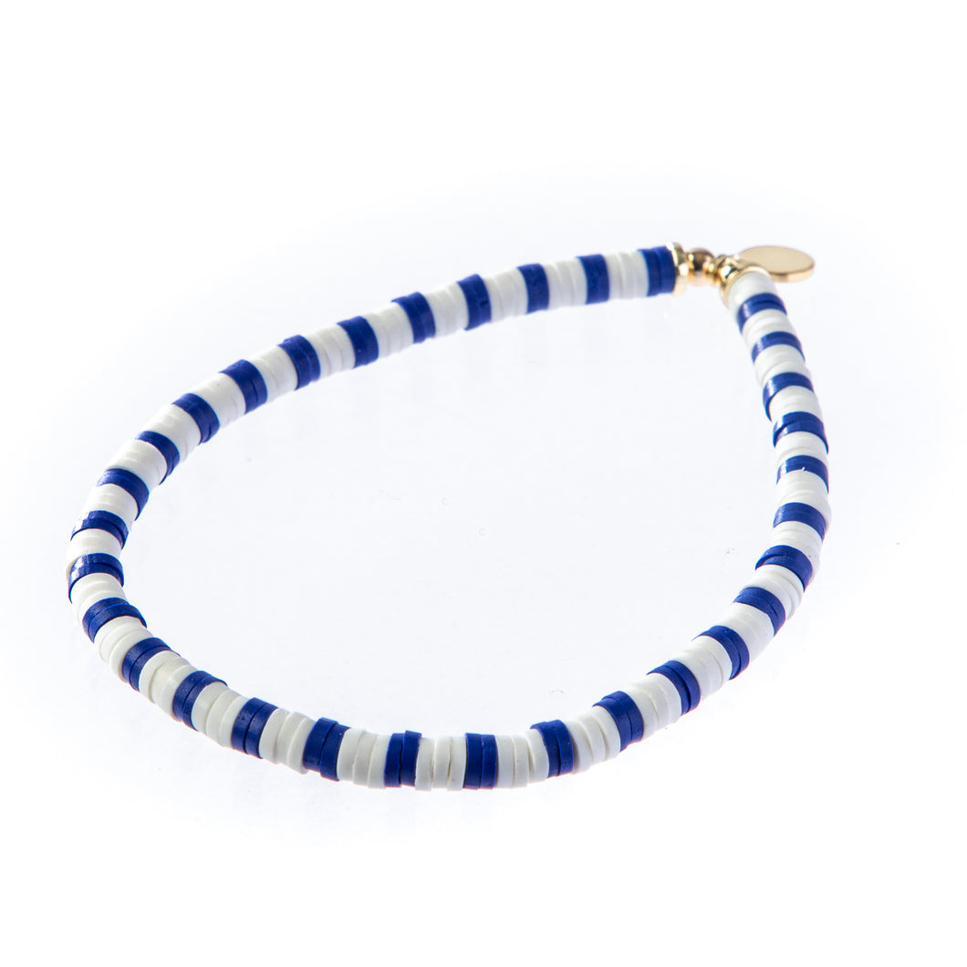 Seaside Skinny Bracelet- Navy & White