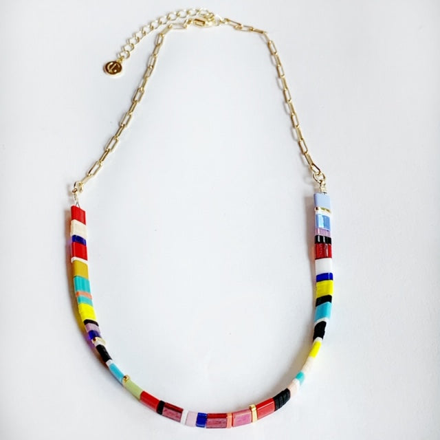 Supernova Choker Neclace- Multi Gold