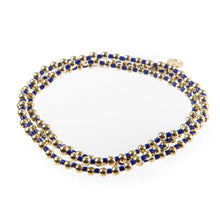 Load image into Gallery viewer, Bali Gold bead set of 3- Navy