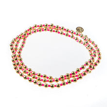 Load image into Gallery viewer, Bali Gold bead set of 3 - Pink