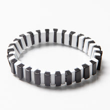Load image into Gallery viewer, Tile Bead Bracelet - Black/White