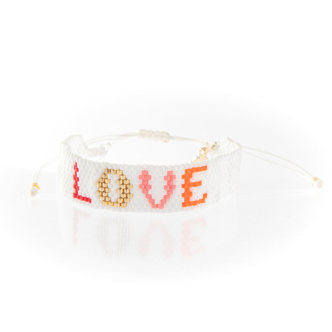 Love Seed Bead Friendship Bracelet