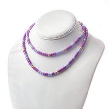 Load image into Gallery viewer, Long Laguna Necklace - Lavender Mix