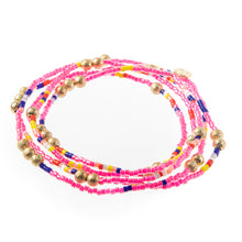 Load image into Gallery viewer, Malibu Wrap Bracelet/Necklace - Pink Multi/Gold