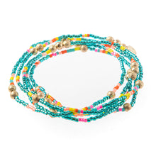Load image into Gallery viewer, Malibu Wrap Bracelet/Necklace Turquoise Multi