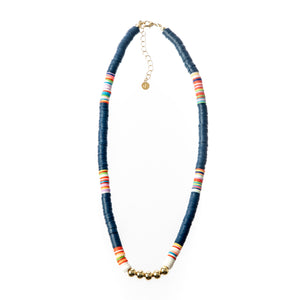 Seaside Necklace- Navy