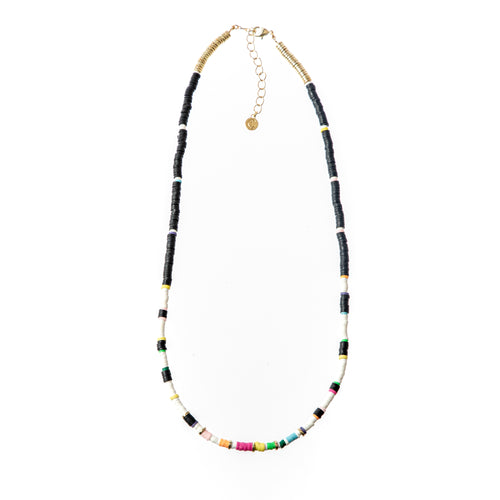 Seaside Skinny Necklace- Black Rainbow