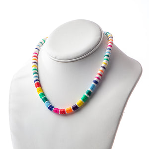 Seaside Necklace- Thick Rainbow